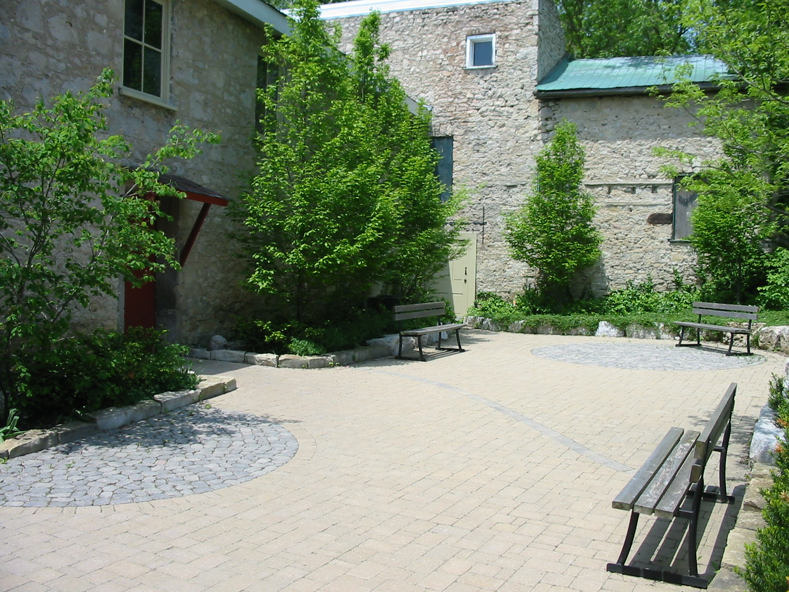 The new courtyard interior.