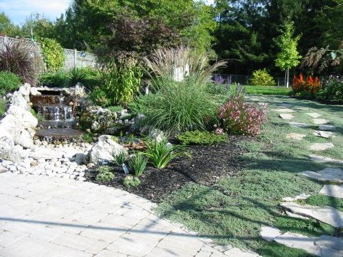 Ponds and waterfalls robin aggus natural landscaping for Pool design guelph