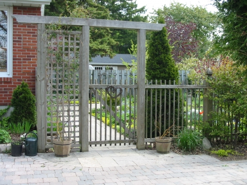 Cedar gate and fence