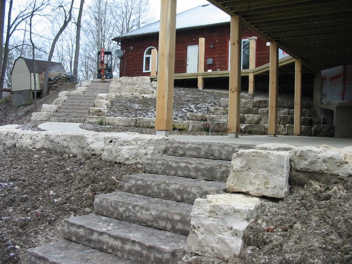 28 solid stone steps lead to the top