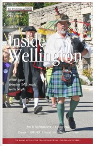 Cover of Inside Wellington April 2011, featuring Robin Aggus