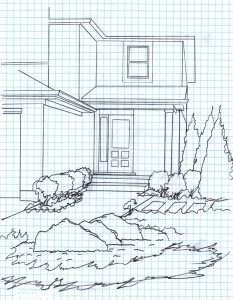 Sketch from the landscape design consultation process